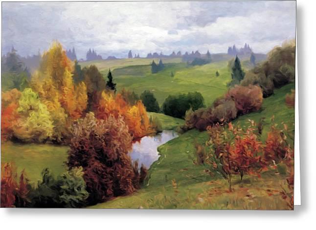 Autumn Valley Of Dreams Greeting Card by Georgiana Romanovna
