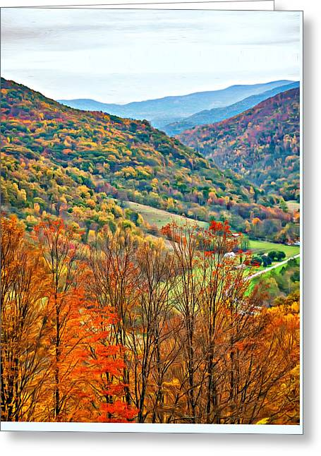 Autumn Valley - Paint Greeting Card