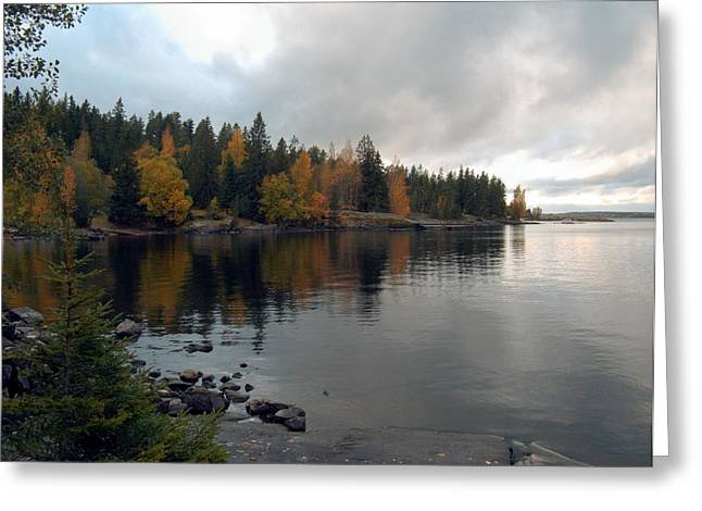 Greeting Card featuring the photograph Autumn View 1 by Sami Tiainen