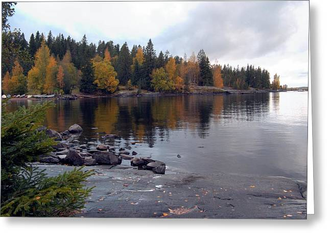 Greeting Card featuring the photograph Autumn View 2 by Sami Tiainen