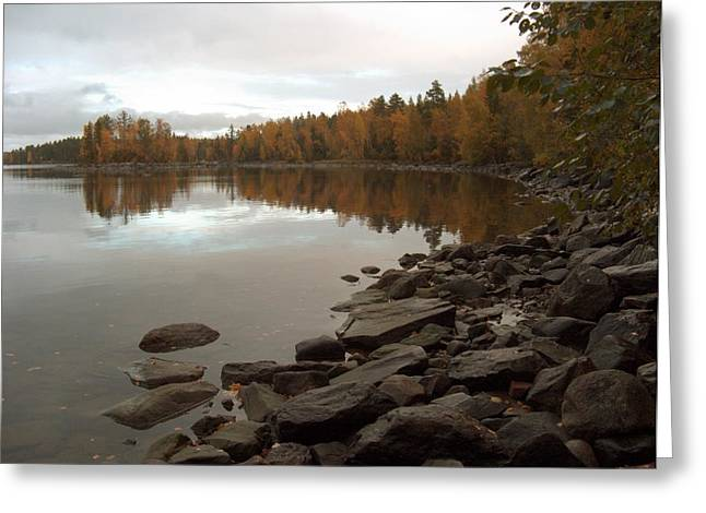 Greeting Card featuring the photograph Autumn View 5 by Sami Tiainen