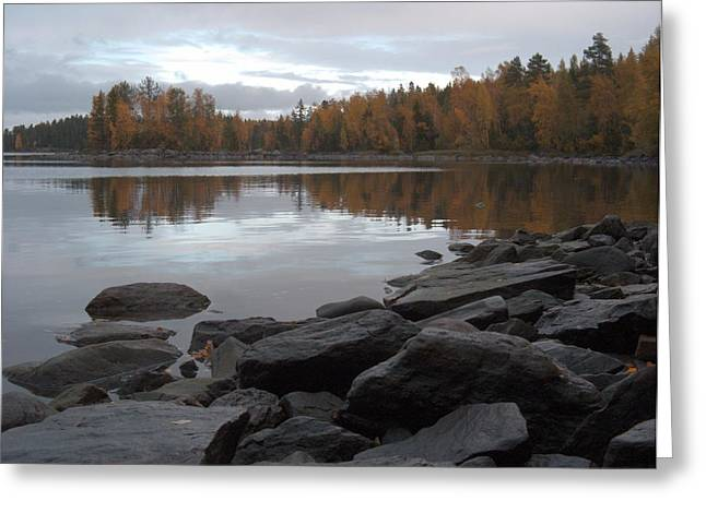 Greeting Card featuring the photograph Autumn View 6 by Sami Tiainen
