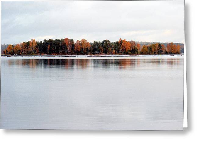 Greeting Card featuring the photograph Autumn View 7 by Sami Tiainen