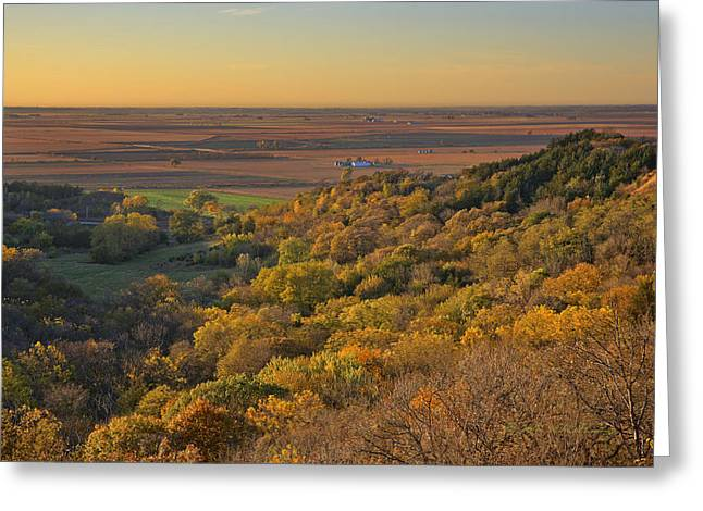 Autumn View At Waubonsie State Park Greeting Card