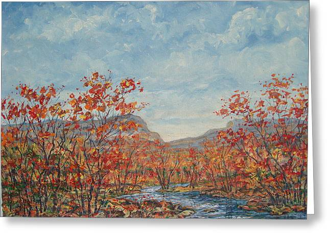 Autumn View. Greeting Card