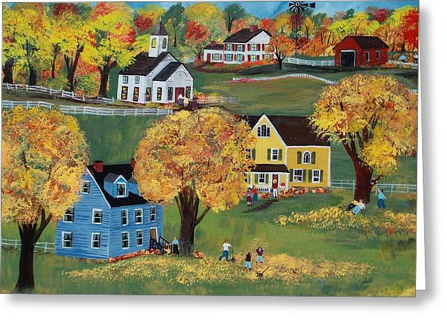 Autumn Greeting Card by Virginia Coyle