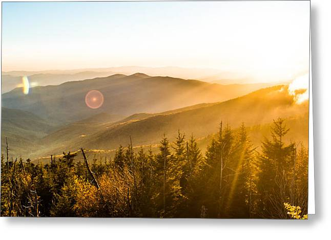 Autumn Vista Greeting Card by Shelby Young