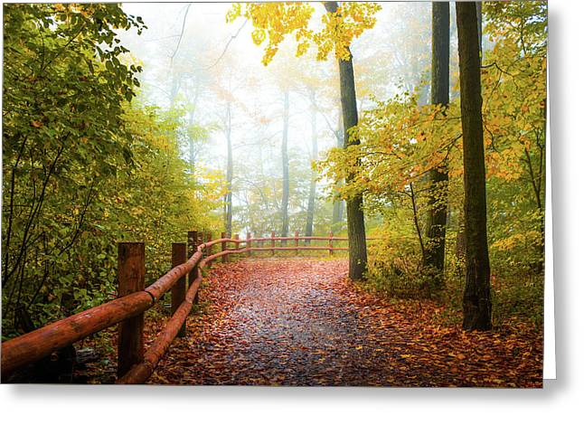 Autumn Walk Greeting Card by Art Spectrum