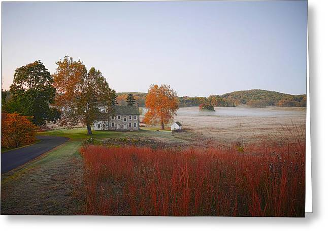 Greeting Card featuring the photograph Autumn Walk In Valley Forge by Bill Cannon