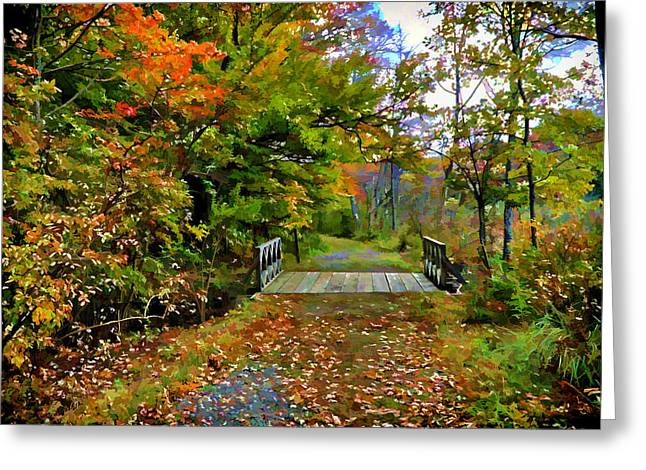 Autumn Walk Greeting Card by Lilia D
