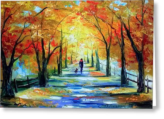 Autumn Walk Greeting Card