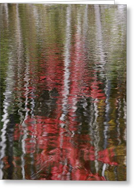 Greeting Card featuring the photograph Autumn Water Color by Susan Capuano