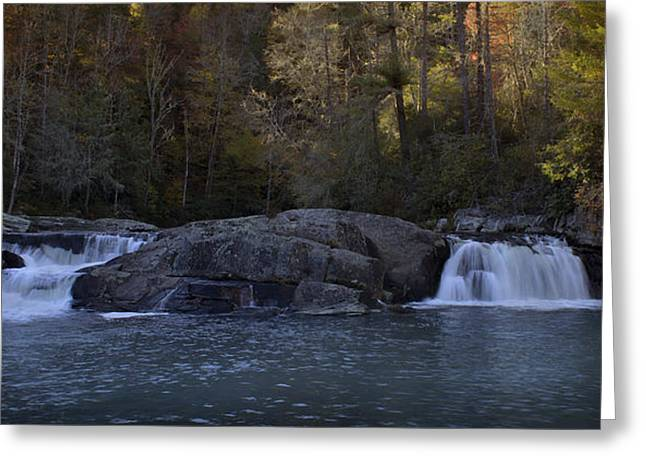 Greeting Card featuring the photograph Autumn Waterfall  by Ellen Heaverlo