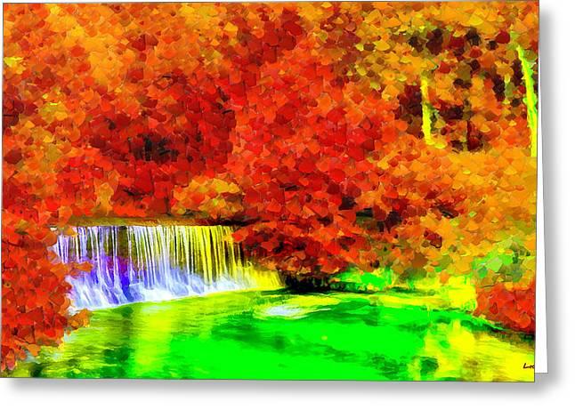 Autumn Waterfall - Pa Greeting Card