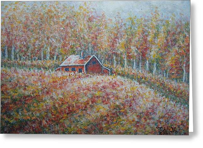Greeting Card featuring the painting Autumn Whisper. by Natalie Holland