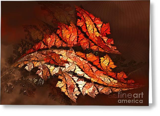 Autumn Wind Greeting Card by Jutta Maria Pusl