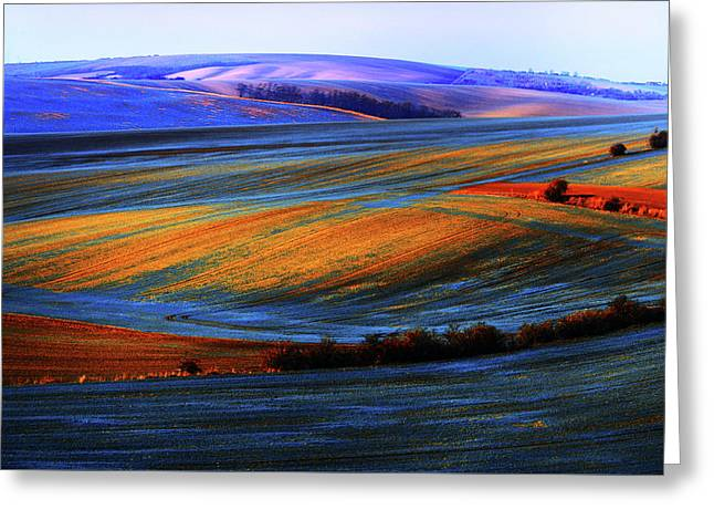 Autumn Winter. Moravian Tuscany Greeting Card by Jenny Rainbow