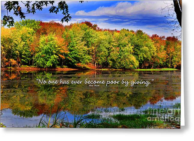 Autumn Wonders Giving Greeting Card by Diane E Berry