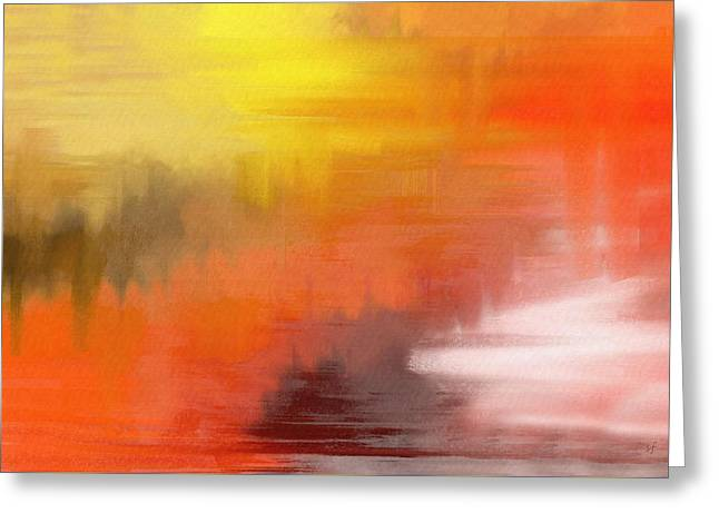 Autumnal Abstract  Greeting Card