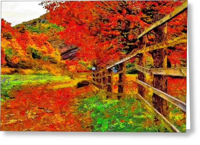 Autumnal Blaze Of Glory Greeting Card