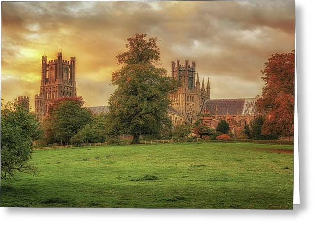Greeting Card featuring the photograph Autumnal Cathedral Sunset by James Billings