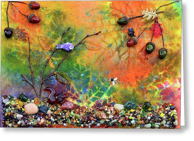 Autumnal Enchantment Greeting Card by Donna Blackhall