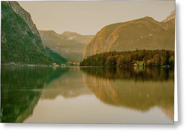 Greeting Card featuring the photograph Autumnal Reflections  by Geoff Smith