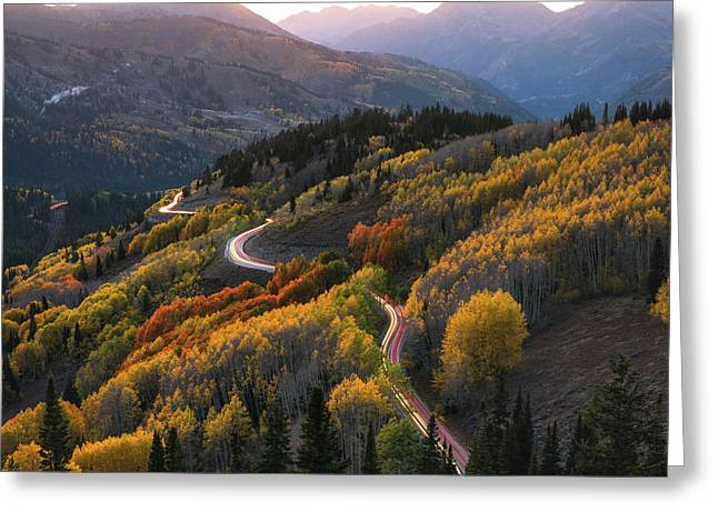 Autumnatic Transmission Greeting Card by James Udall