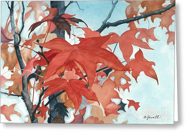 Autumn's Artistry Greeting Card by Barbara Jewell