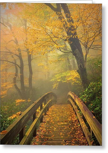 Autumn's Bridge To Heaven Greeting Card