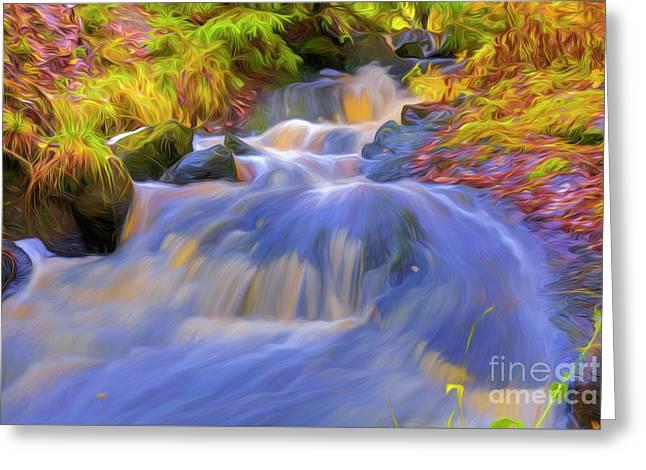 Autumn's Creek 3 Greeting Card