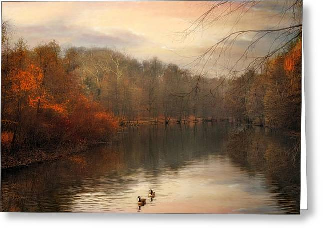 Autumn's Ebb Greeting Card by Jessica Jenney