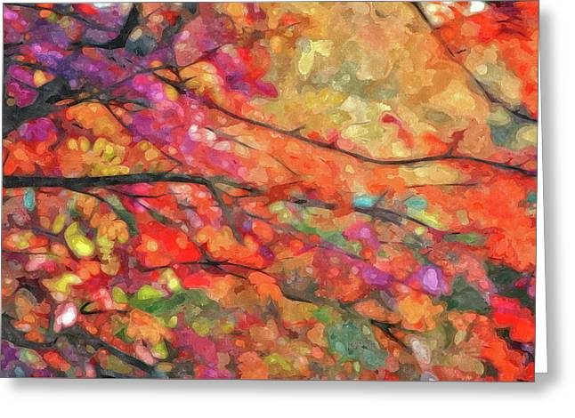 Autumns Splendorous Canvas Greeting Card by Andrea Kollo