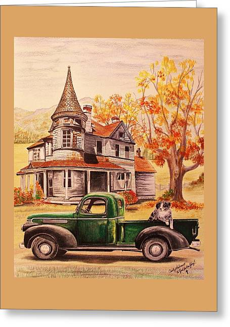 Autumn's Whispered Memories Greeting Card by Carolyn Valcourt