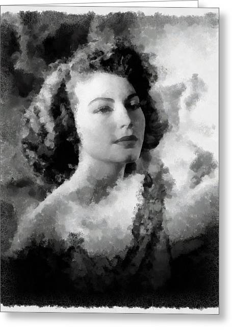 Ava Gardner Actress Greeting Card by Esoterica Art Agency