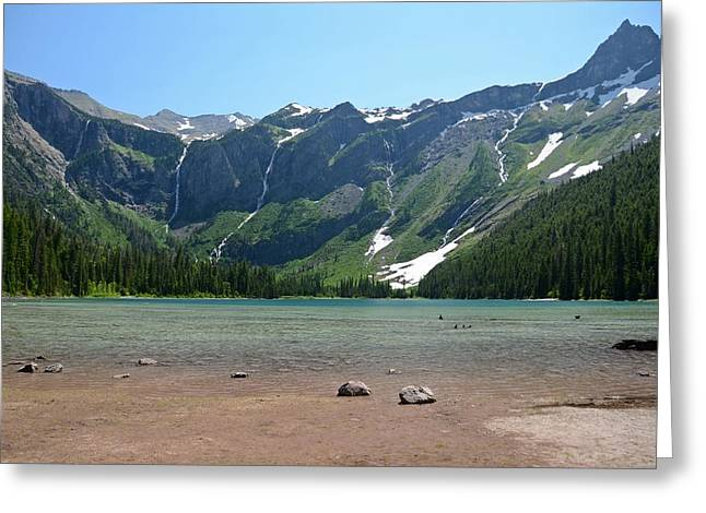 Avalanche Lake Greeting Card