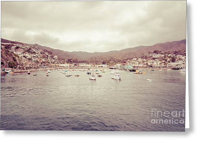 Avalon Bay Catalina Island California Picture Greeting Card by Paul Velgos
