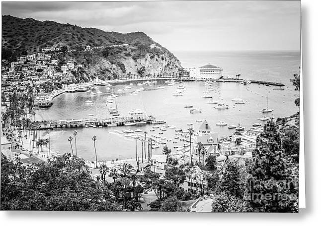 Avalon California Black And White Photo Greeting Card by Paul Velgos
