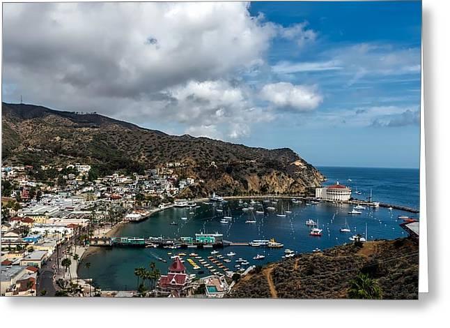 Avalon Harbor - Catalina Island Greeting Card by Mountain Dreams