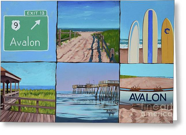 Avalon Montage  Greeting Card by Elisabeth Olver