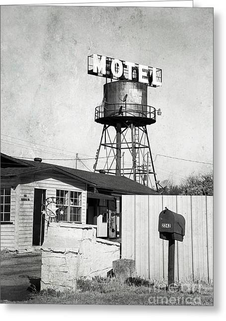 Greeting Card featuring the photograph Avalon Motel by Elena Nosyreva