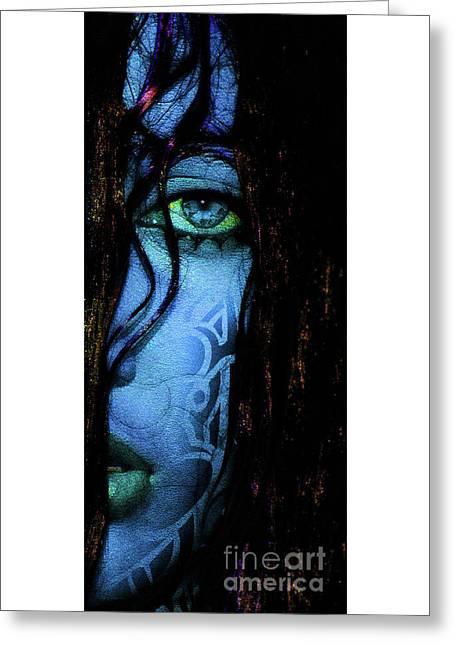 Blue Greeting Card by Prar Kulasekara