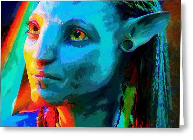 Avatar  - Free Style -  - Da Greeting Card by Leonardo Digenio
