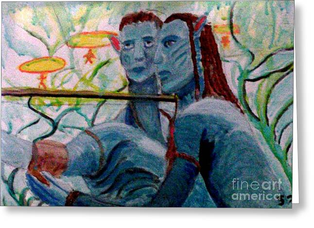 Avatar Painting Greeting Card