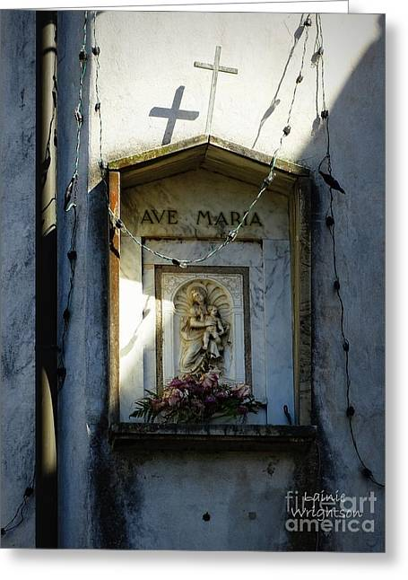 Ave Maria Shrine Greeting Card by Lainie Wrightson