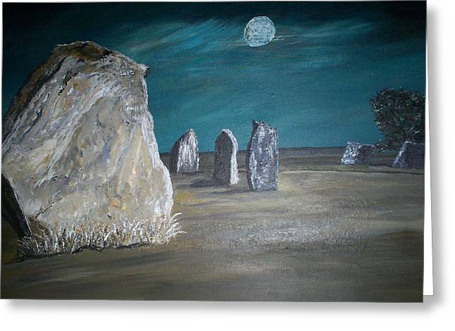 Avebury Stone Circle Greeting Card by Tracey Mitchell