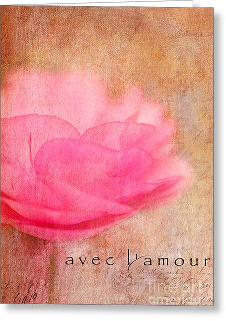 Avec L'amour Greeting Card