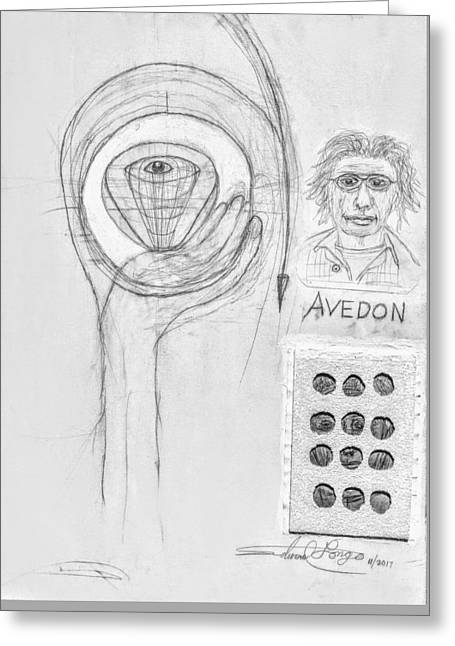 Avedon Master Of The Lens Greeting Card