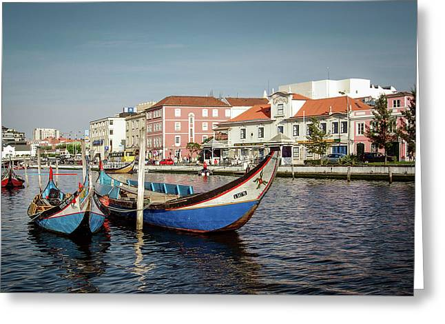 Aveiro Boats Greeting Card