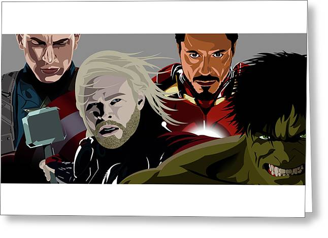 Avenge Greeting Card by Anthony Rouse